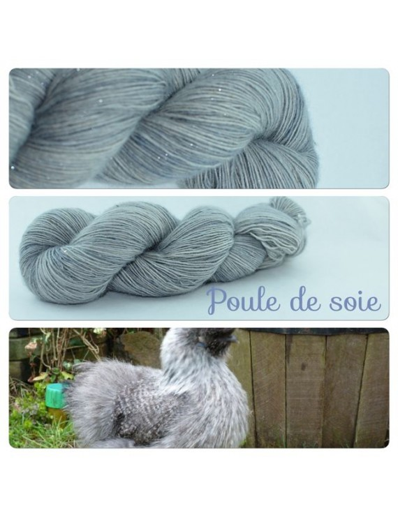 """Poule de Soie"" Single fingering Alpaca Silk Angelina"
