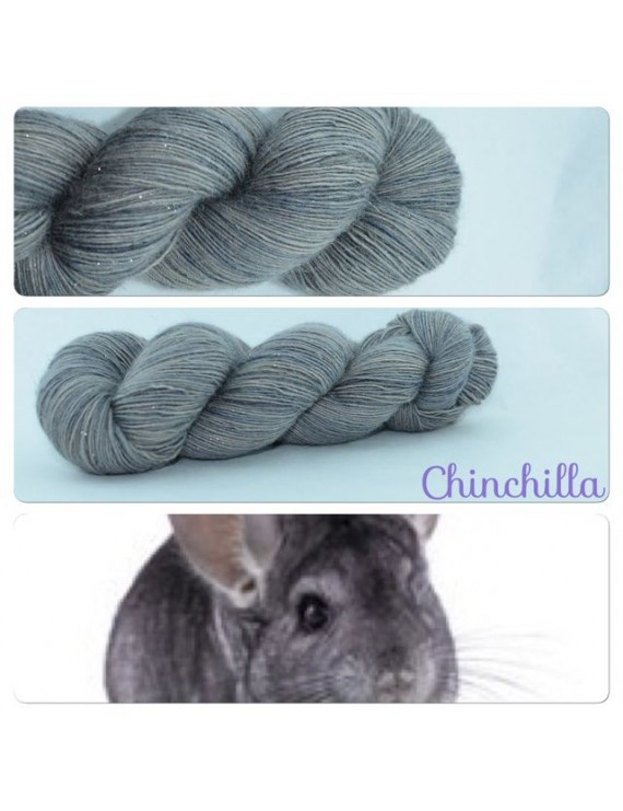 """Chinchilla"" Single fingering Alpaca Silk Angelina"