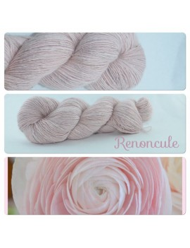 """Renoncule"" Single fingering Alpaca Silk Angelina"