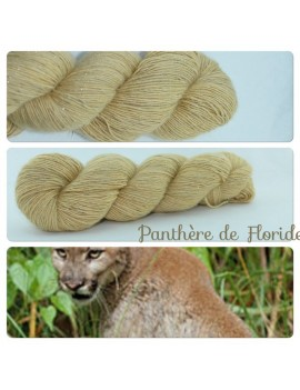"""Panthère de Floride"" Single fingering Alpaca Silk Angelina"