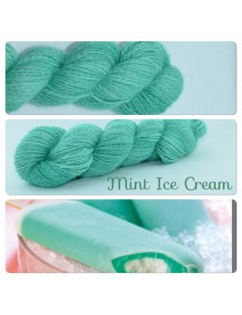 """Mint Ice Cream"" Angora & Baby Alpaga"