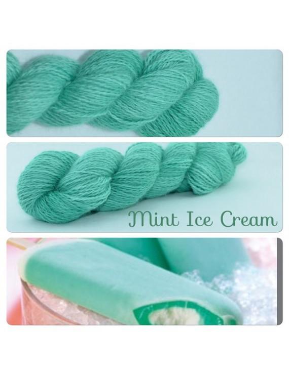 """Mint Ice Cream"" Angora & Baby Alpaga"
