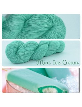 """Mint Ice Cream"" Single fingering Alpaga Seacell"