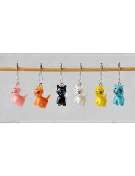 """Colored Cat"" Removable Stitch Marker"