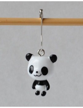 """Panda"" Removable Stitch Marker"