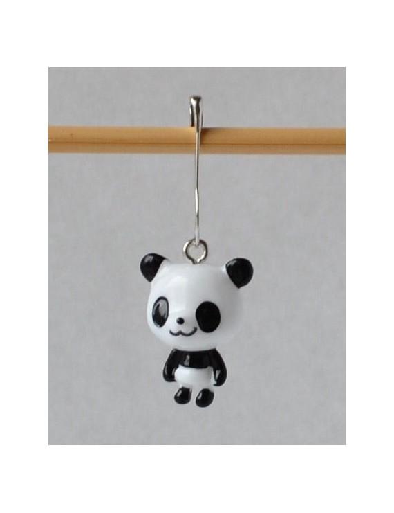 """""""Panda"""" Removable Stitch Marker"""