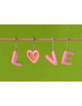 """""""LOVE"""" Anneaux Amovibles"""