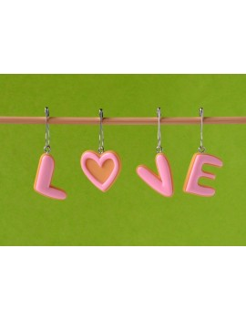 """LOVE"" Removable Stitch Markers"