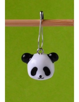 """Panda's Face"" Removable Stitch Marker"