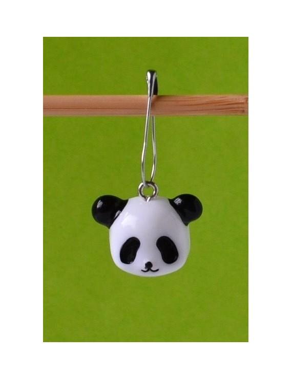"""""""Panda's Face"""" Removable Stitch Marker"""