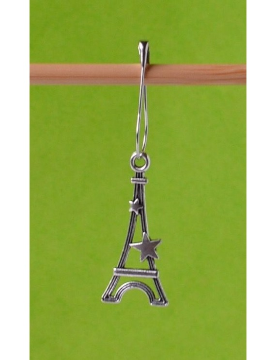 """Eiffel Tower"" Removable Stitch Marker"