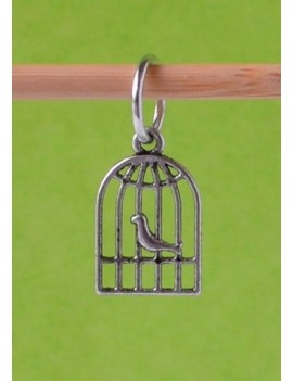 """Bird Cage"" Stitch Marker"