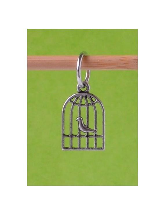 """""""Bird Cage"""" Stitch Marker"""