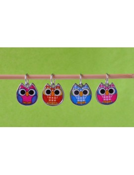 """Owls"" Stitch Markers"