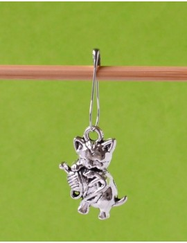 """Cat and her Ball"" Removable Stitch Marker"
