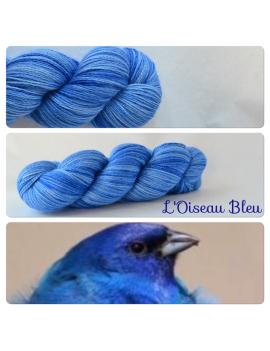 """L'oiseau Bleu"" Fil fingering Alpaga & Soie"