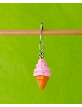 """Ice Cream"" Removable Stitch Marker"