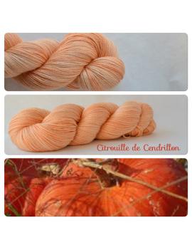 """""""Citrouille de Cendrillon"""" Fil fingering Alpaga & Soie"""