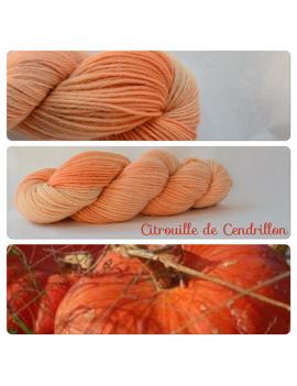 """""""Citrouille de Cendrillon"""" 100% Alpaga DK"""