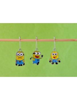 """3 Minions"" Stitch Markers"