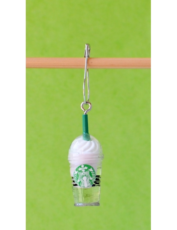 """Starbucks Fraise"" Removable Stitch Marker"