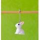 """""""lapin blanc"""" Anneau marqueur Amovible"""