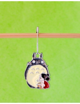 """Totoro and the little Girl"" Stitch Marker"
