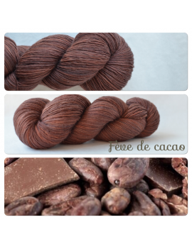 """Fève de Cacao"" Fil Single Fingering Mérinos"