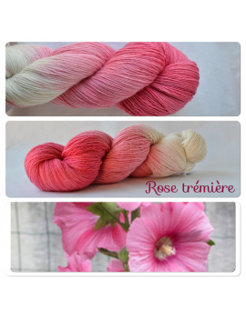 """Rose Trémière"" Single Fingering Merino Yarn"
