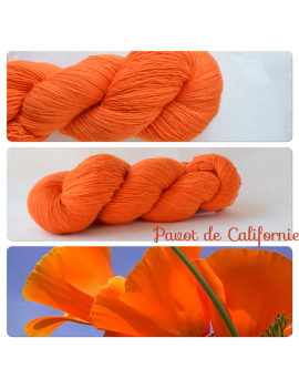 """Pavot de Californie"" Single Fingering Merino Yarn"