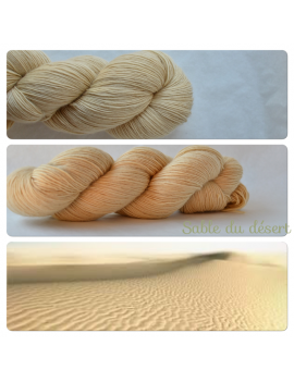 """Sable du Désert"" Single Fingering Merino Yarn"