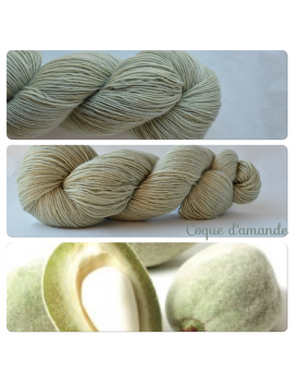 """Coque d'Amande"" Single Fingering Merino Yarn"