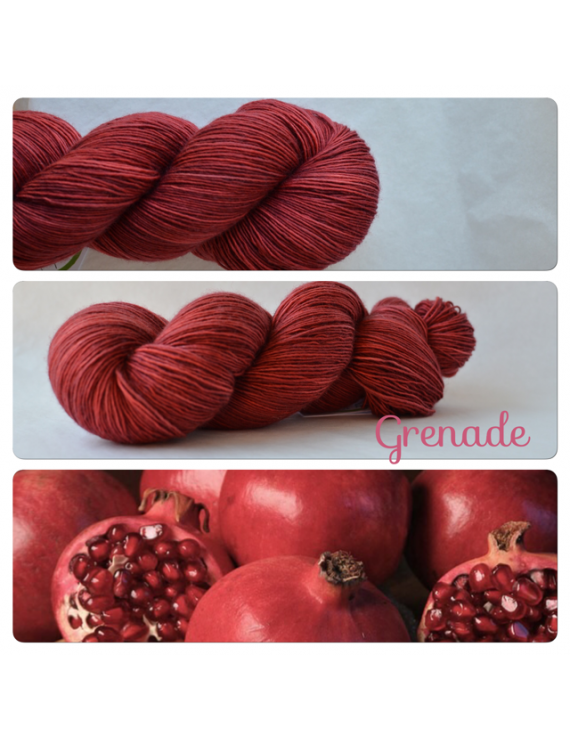 """Grenade"" Single Fingering Merino Yarn"