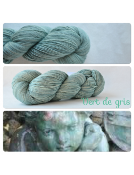"""Vert de Gris"" Single Fingering Merino Yarn"