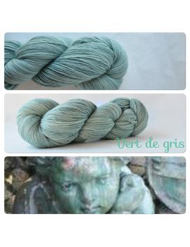 """Vert de Gris"" Single Fingering Merino Yarn"