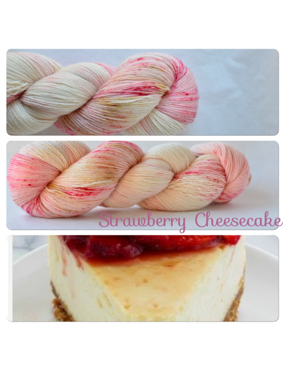 """Strawberry Cheesecake"" Fil Single Fingering Mérinos"