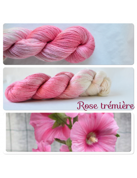"""Rose Trémière"" Single Fingering Merino & Silk Yarn"