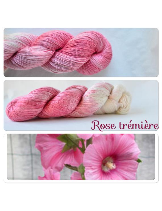 """""""Rose Trémière"""" Single Fingering Merino & Silk Yarn"""