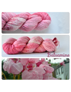 """Balsamine"" Fil fingering Alpaga & Soie"