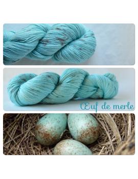 """Oeuf de Merle"" fingering Alpaca & Silk Yarn"