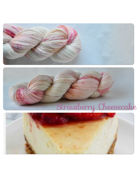 """Strawberry Cheesecake"" fingering Alpaca & Silk Yarn"