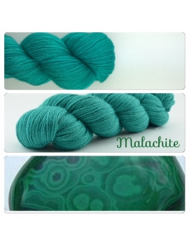 """Malachite"" fingering Alpaca & Silk Yarn"