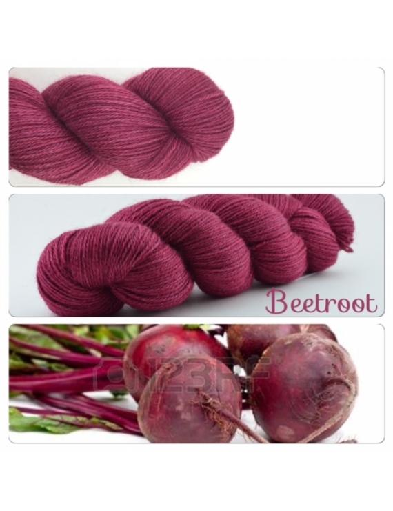 Beetroot fingering Alpaca & Silk Yarn