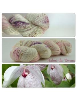 """Sabot de Vénus"" fingering Alpaca & Silk Yarn"