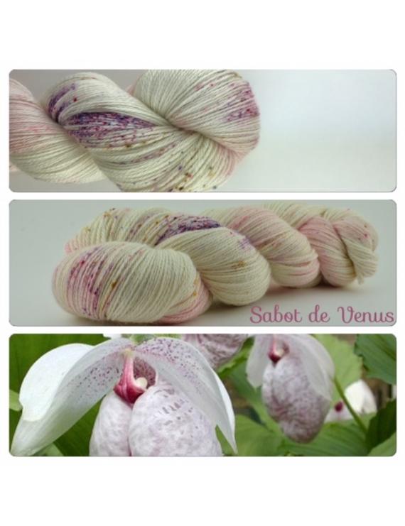 Sabot de Vénus fingering Alpaca & Silk Yarn