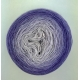 Wisteria Fil Single Fingering Mérinos & soie (long gradient yarn cake)