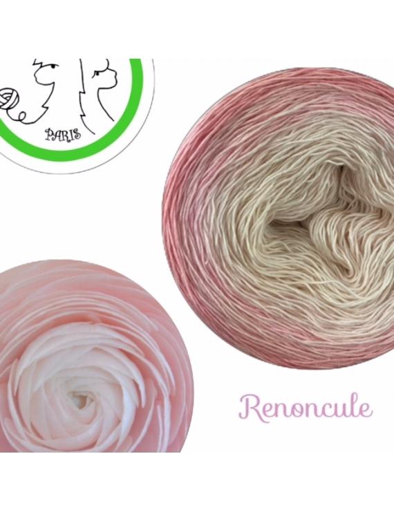 Renoncule Fil Single Fingering Merinos & silk (long gradient yarn cake)