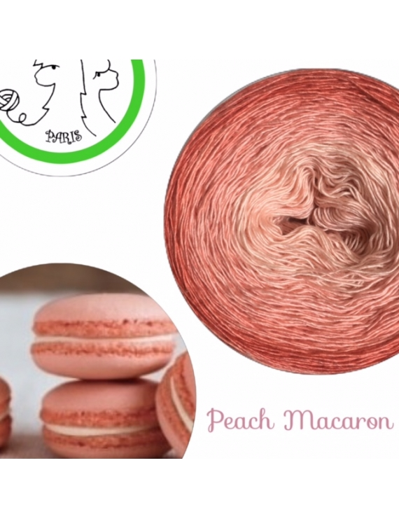 Peach Macaron Fil Single Fingering Merinos & silk (long gradient yarn cake)