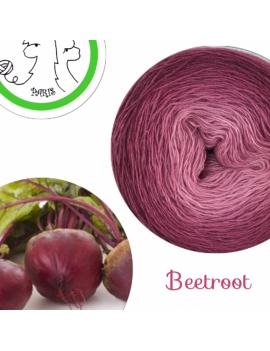 Beetroot Fil Single Fingering Mérinos et Soie (long gradient yarn cake)