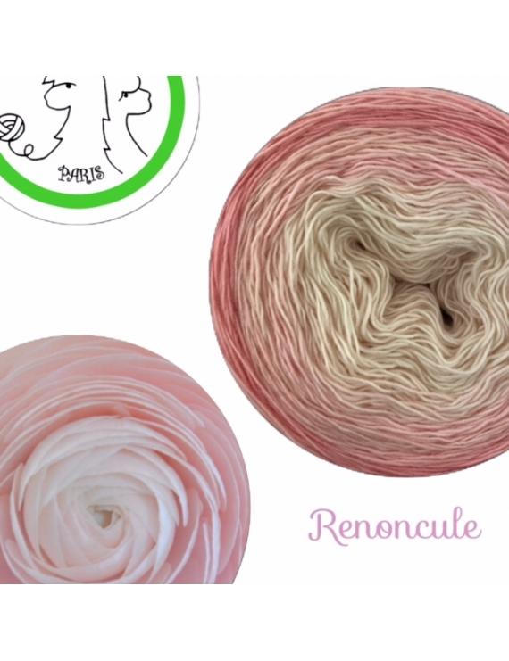 """Renoncule"" Fil Single Fingering Mérinos (long gradient yarn cake)"